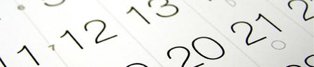 Imagen de un calendario