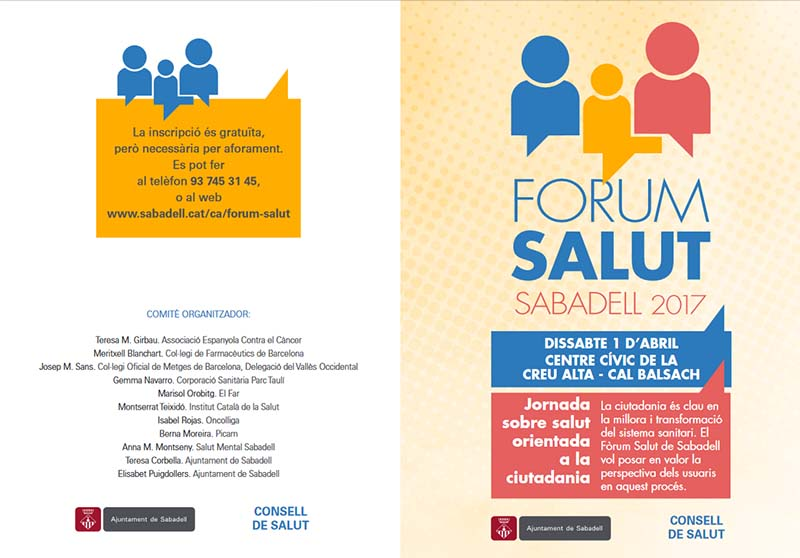 El Parc Taulí participa com a entitat organitzadora del 'Fòrum Salut Sabadell'