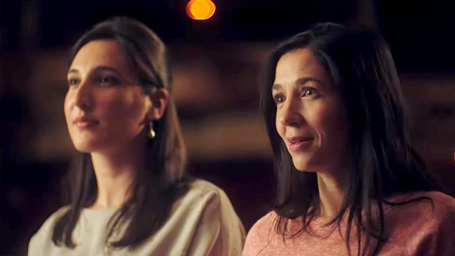 Olga Serrano, a l'esquerra, i Gemma Cazorla, a la dreta