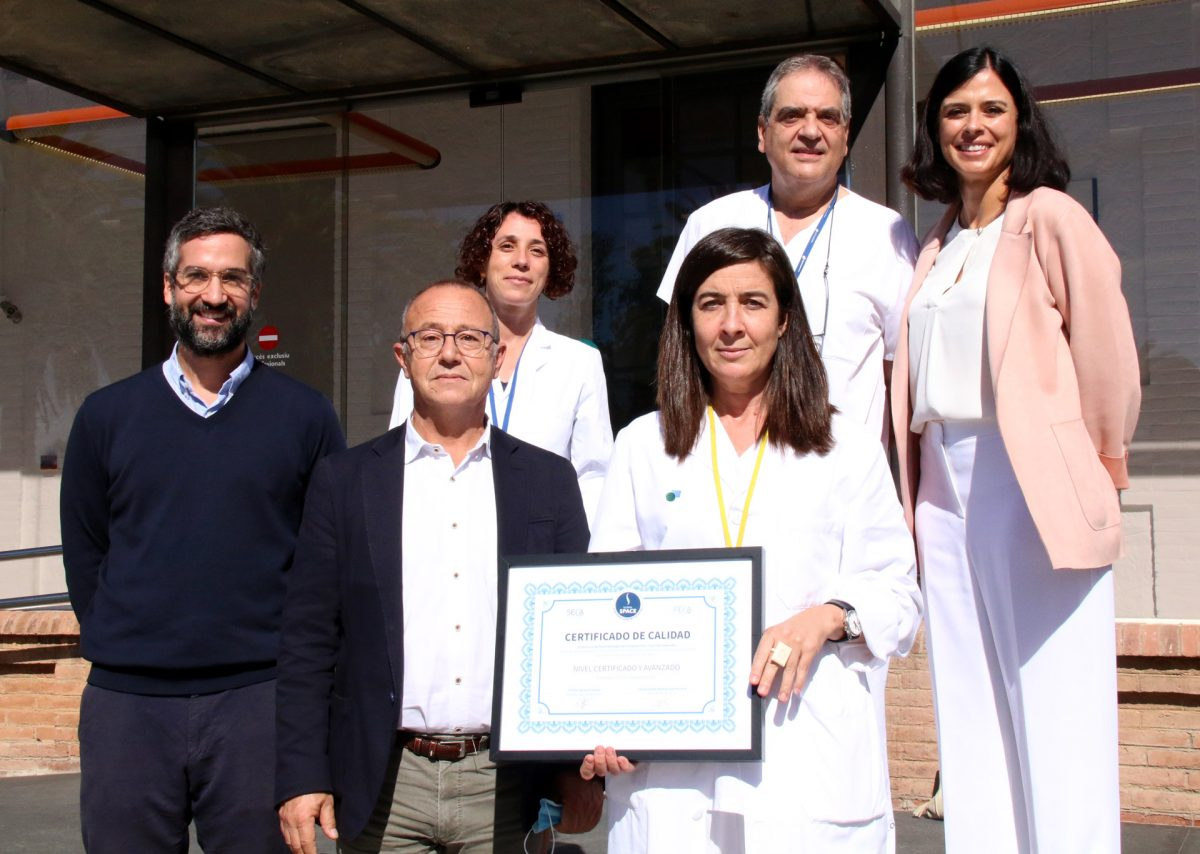 Parc Taulí receives advanced quality certification in the management of axial spondyloarthritis awarded by the Spanish Society of Care Quality