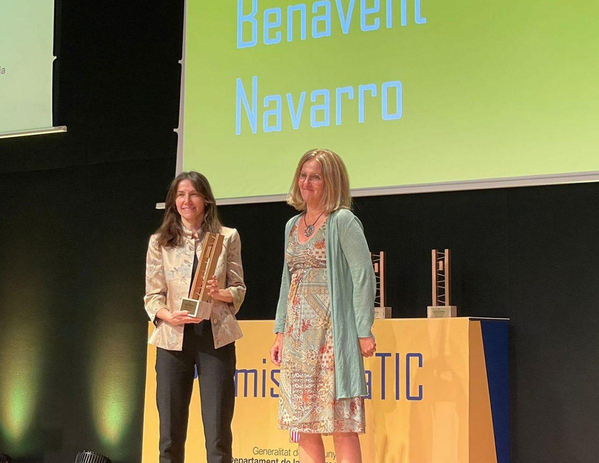 La directora d'Organització i Sistemes d'Informació del Parc Taulí, Anna Benavent, guardonada amb un dels Premis DonaTIC 2021
