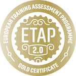 Image of the Gold Certificate Excellence ETAP stamp