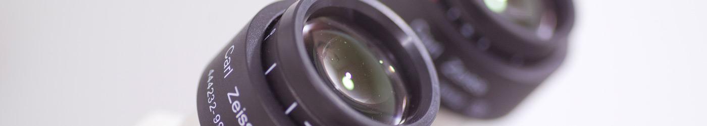 Imagen de unos oculares de un microscopio