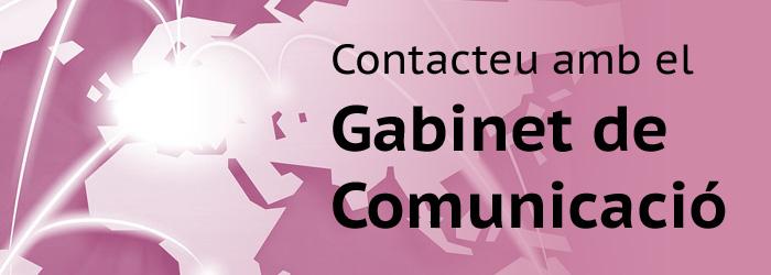 Contacte con el Gabinete de Comunicación