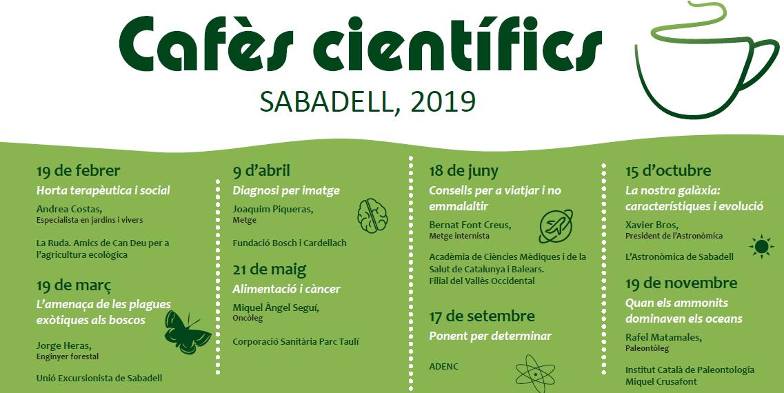 'Alimentació i càncer', a càrrec del Dr. Miquel Àngel Seguí, al proper Cafè Científic de Sabadell. Dimarts, 21 de maig, a la UES.
