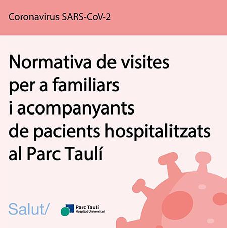 Normativa de visites per a familiars i acompanyants de pacients hospitalitzats