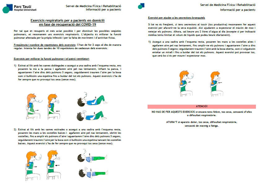 Click to view the document Respiratory Exercises for Home Patients in the Recovery Phase of COVID-19